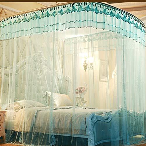 Chenweiweiwei klamboe cirkelboog franjes design bedhemel gordijn bedframe gordijnen gerechten prinses stijl gordijn telescoopstang type (Twin)
