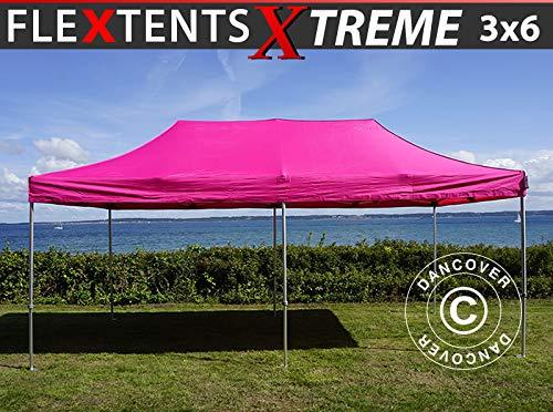 Dancover Carpa Plegable Carpa Rapida FleXtents Xtreme 50 3x6m Rosa