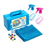 Color My Worlds Sand and Snow Coloring Kit Snow Toy Kids Toy Build a Blue Snowman Make Rainbow Snowballs Purple Igloo Green Orange Pink Snow Sled Path 14 Piece Kit Eco-Friendly Toy Tote Bag Included