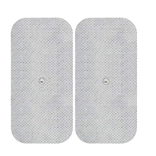 Elektroden-Pads - Für Sanitas & Beurer Geräte - Gegen Rückenschmerzen - 2 Stück, 12x7cm -TENS und EMS -3,5mm Druckknopf