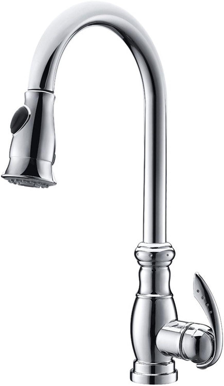 LKW-bathroom Kitchen Sink Mixer Fittings Sink Mixer Tap Sink Mixer Taps Lever Swivel Spout Kitchen Sink Taps Swivel Spout Chrome Kitchen Sink Tap Kitchen Mixer Tap European All-Copper Pumping