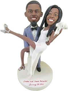 Figurine di argilla personalizzate personalizzate Topper per torte nuziali personalizzate basate su foto dei clienti Decor...
