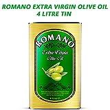 Romano Aceite de Oliva Virgen Extra | Origen Mediterráneo | Bajo en Colesterol | Contiene Grasas Monoinsaturadas | Ideal para Aderezos, Salsas, Ensaladas y Mojar Pan | Lata de 4 Litros