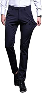 Howely Men Business Fit Straight Leg Non-Iron Relaxed-Fit Plain-Front Pant