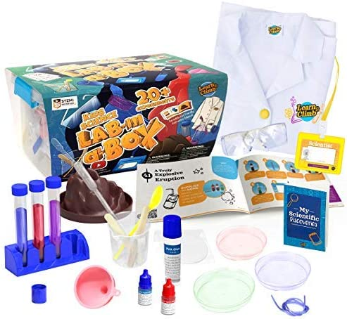 Learn Climb Kids Science Kit with Lab Coat Over 20 Science Experiments Ages 5 Color of Lab Coat product image