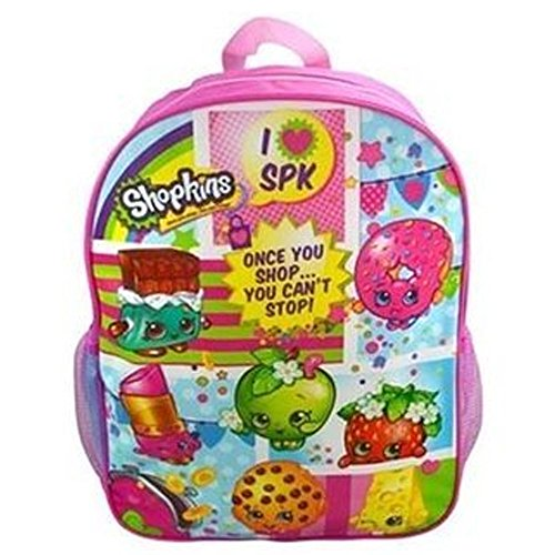 Shopkins 16-Inch Backpack with Plain Front