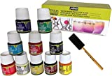 Permanent Glass Paint Stain Kit, 10 Pack, 1.5-Ounce Professional Stained Glass Finish