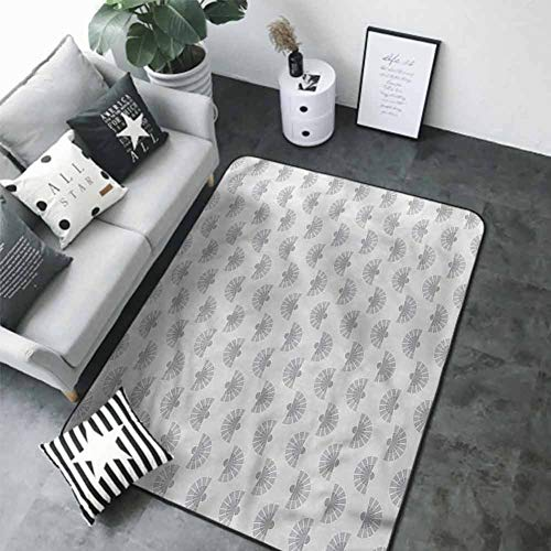 Long Kitchen Mat Bath Carpet Geometric,Japanese Fan Pattern 84 x 60 in Best Floor mats