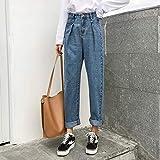 YSDSBM Jeans Mujer High Denim Spring Autumn Trendy Plus Size Womens Pockets Plisado Ocio Graceful Female Slim Trouser