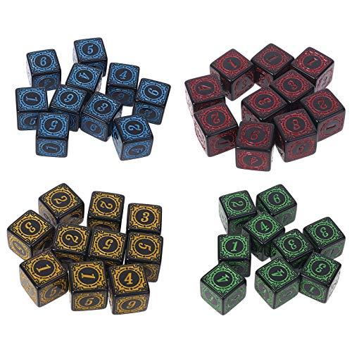 S-TROUBLE 10 Piezas D6 Dados poliédricos números de Bordes Cuadrados 6 Caras...