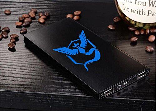 Pokémon Go Bleu mystique 50000mAh solaire portable Power Bank Chargeur de batterie Dual USB Panneau solaire pour téléphone portable téléphone portable, iPad, Samsung, Nexus, HTC et téléphone Android