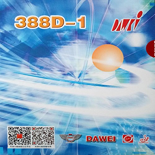 DAWEI 388D-1 Long Pips Out Table Tennis Rubber Sheet (red 0.5-0.7mm)