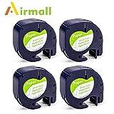 Airmall kompatible Etikettenband als Ersatz für Dymo Letratag 12mm x