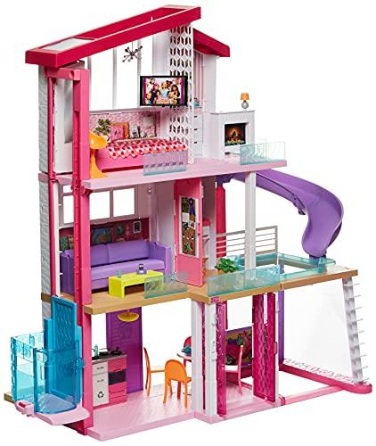 Barbie Estate, Mega Casa de Los Sueños, Casa de Muñecas para niñas de 3 años en adelante, con más de 90 cm de Alto, 8 Habitaciones, Elevador y alberca