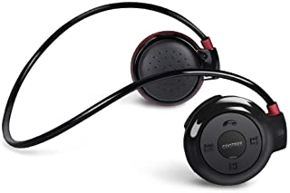 Cootree Wireless Headphone Sport Headset Water Resistant with Microphone Black/Red