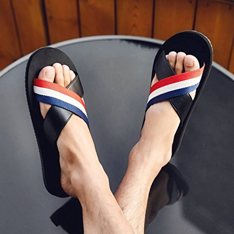 KPHY Summer Slippers Men Waterproof Leisure Beach shoes Indoor Anti-Skid Wear Resistant Cold Towing
