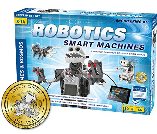 Thames & Kosmos | Robotics Smart Machines | Robotics for Kids 8 and up | STEM Kit builds 8 Robots | Full Color Manual to help with assembly | Requires tablet or smartphone | Parents' Choice Gold Award