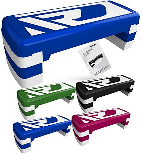 RDX Aerobic Steppbrett für Zuhause mit 3 Stufen Höhenverstellbar 20cm 15cm 10cm, Anti-Rutsch Yoga Trittbrett Home Fitnessstudio Cardio Stepper Board Fitness Workout Sport Training 80cm x 30cm