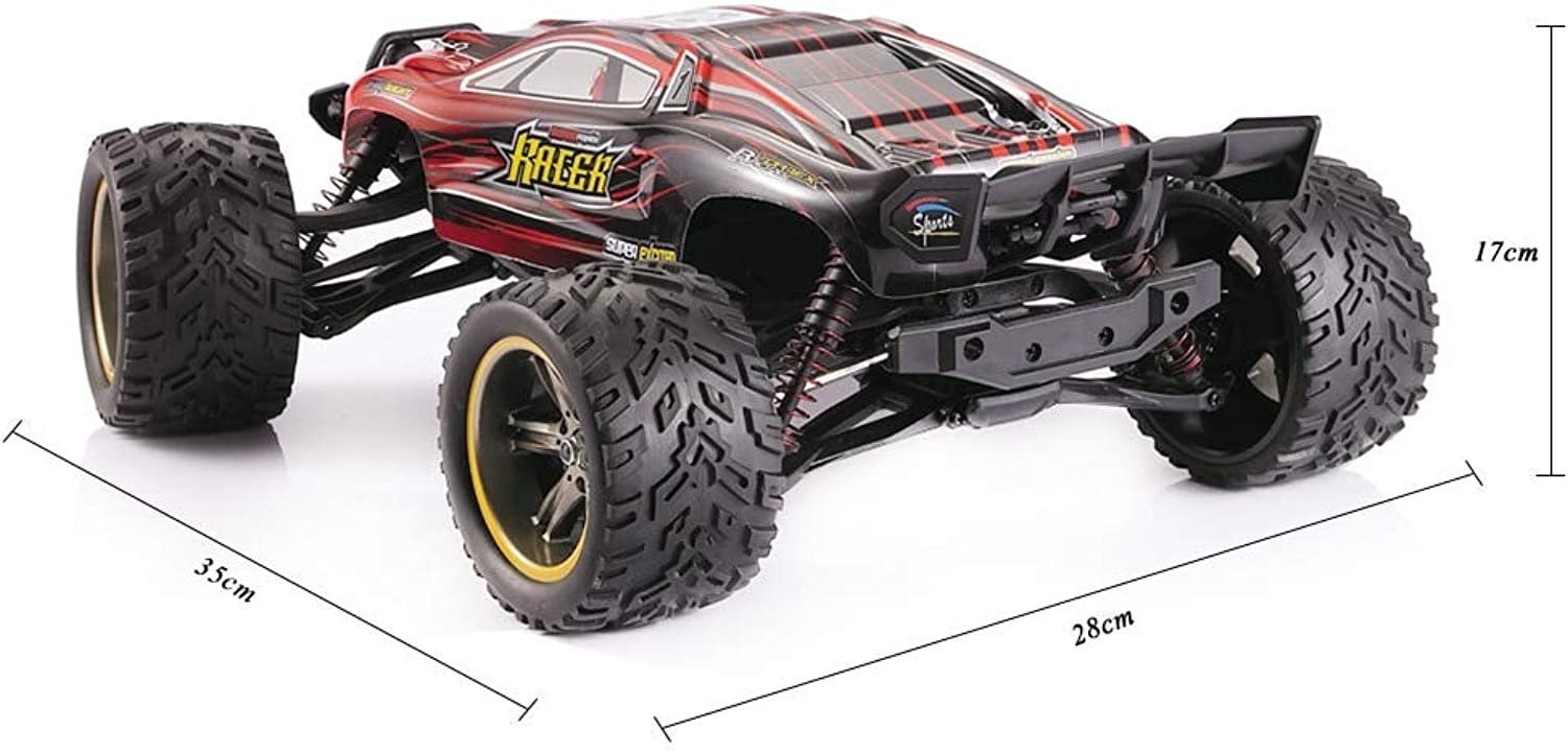 Generic Gptoys S912 9116 2.4G 2WD RC Monster Truck 1 12 45km h Crawler Drift Controle Remoto Bigfoot Speed Waterproof and Shockproof Red