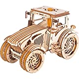 GuDoQi Puzzle 3D Bois, Tracteur en Bois avec Moteur à Bande de Caoutchouc, Maquette en Bois a Construire Adulte Adolescents, Jouet d'Assemblage Bricolage, Kit Construction Bois, Idees Cadeau DIY Ado