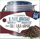 VOLGA COSMETICS - Limpiador exfoliante corporal específico - con venta Kala Namak - Rico en azufre, hierro y magnesio - Efecto antibacteriano - 500 gr