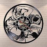 Reloj de pared con una cámara para tomar fotos de estudio de fotografía decoración de pared fotógrafo reloj de pared de vinilo reloj de registro fotógrafo regalo
