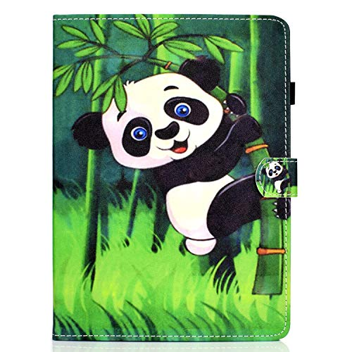 Unichthy Case For Samsung Galaxy Tab S6 Lite 10.4 Inch Tablet 2020 Release Model SM-P610 (Wi-Fi) SM-P615 (LTE) Cute Patterned Case Shockproof Stand Case with Card Slots Cover 2020 Panda