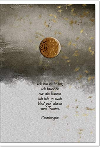 Trauerkarte HOFFNUNG | Pusteblume | metALUm # 1001153