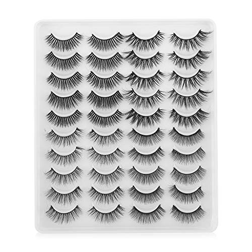 False Eyelashes 3D Faux Mink Hair Eyelashes Beauty Handmade Criss-cross Mixed Styles Thick Long Wispies Fluffies Lahes Extension 20 Pairs/set(YP402)