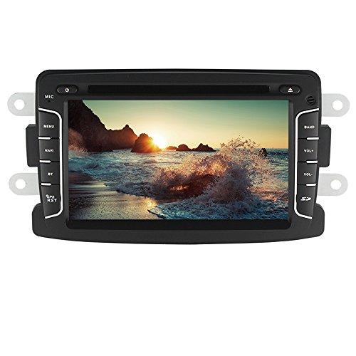 XISEDO Android 7.1 Autoradio 2 Din Car Radio 7' Car Stereo RAM 2G Navigatore GPS con Schermo di Tocco e Lettore DVD per Dacia Sandero/Renault Duster/Renault Captur/Lada Xray 2/ Logan 2