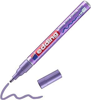 edding 751 Marqueur peinture brillante - violet métallisé - 1 feutre peinture brillante - pointe ronde 1-2mm - pour dessin...