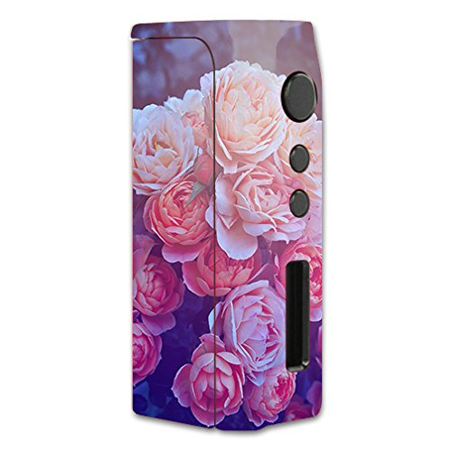Skin Decal Vinyl Wrap for Pioneer4you iPV D2 75w Vape Mod Box / Pink Roses