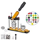 VEVOR Button Maker 32mm Badge Machine with 100 Sets Circle Button Parts Rotate Button Badge Maker Punch Press Machine for DIY Badges(32mm 100pcs)