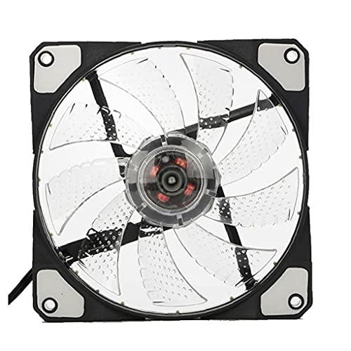 Estuche de computadora Ventilador Ultra silencioso Alto Flujo de aire silencioso CPU enfriadores LED PC Radiador blanco Múltiples modos