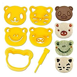 CuteZCute Animal Friends Food Deco Cookie Cutters and Stamp Kit