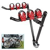 Ambienceo Porte-vélos de base sur boule d'attelage rapide et facile à utiliser des Supports de bicyclettes Porte-Bagages arrière Pliable vélo Voiture monté Trois Roues (pour 2 vélos)