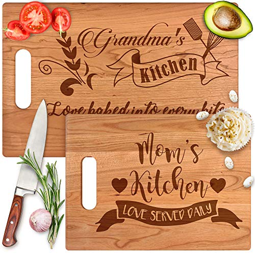 Custom Cutting Board Gift for Mommy, Aunt & Grandma - Engraved With Mother's Name & Message from Son, Daughter, Kids or Husband - Perfect for Birthday, Mothers Day, Anniversary & Christmas - By Froolu