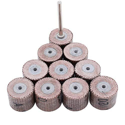 10 unidades de 12 mm de papel de lija de láminas para herramienta Dremel, grano 120 de 3 mm