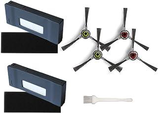 Zestaw zamienny do Ecovacs Robotics DM80-KTA części zamienne do odkurzacza Deebot M81/DM81PRO, 4 szczotki boczne 2 filtry ...