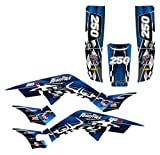 Graphics kit compatible with Honda TRX250R 1986-1989 Fourtrax #2500 (Blue)