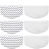 Lxiyu 6 Pack Replacement Steam Mop Pads for Bissell Powerfresh Hard Floor Steam Cleaner 1940 1440 1806 Series...