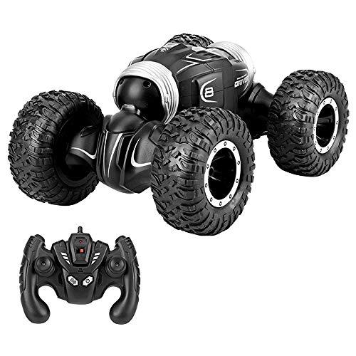 Afstandsbediening auto, RC stunt auto 2.4Ghz, vierwielaandrijving, dubbelzijdig Hardlopen, 360 Degrees Spin & Flip, speelgoed auto for Kid, geschikt for alle terreinen ( Color : Silver )