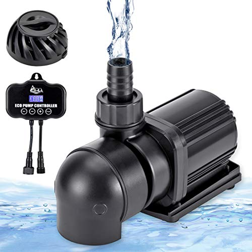 AQQA 110V Water Pump with Controller, Ultra Quiet Submersible Water Pump for Freshwater and Saltwater Aquarium, Fountain, Pond, Fish Tank 800-3200 GPH (40W 1200 GPH)
