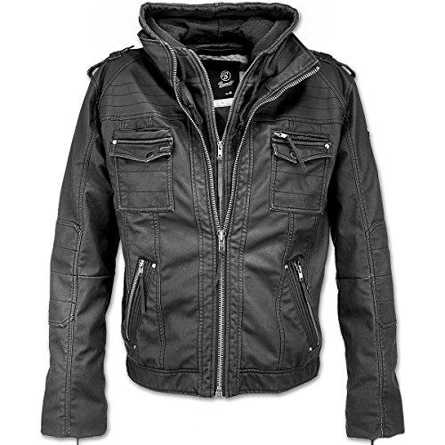 Brandit –Chaqueta de piel Para Hombre, modelo vintage, estilo rockero...