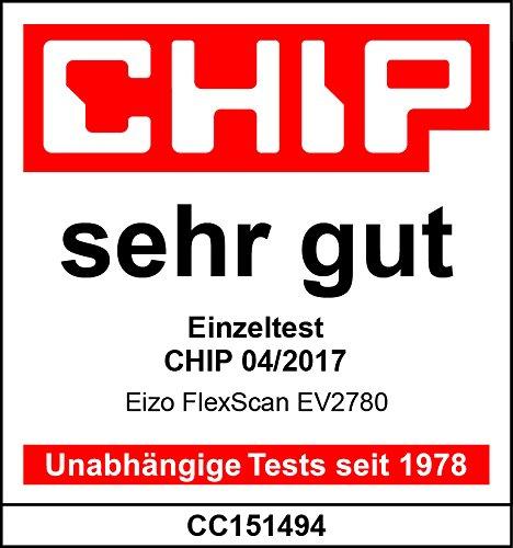 EIZO FlexScan EV2780-BK 68,5 cm (27 Zoll) Ultra-Slim Monitor (HDMI, USB 3.1 Hub, USB 3.1 Typ C, DisplayPort, 5 ms Reaktionszeit, Auflösung 2560 x 1440) schwarz