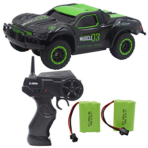 Blomiky 4WD 9MPH High Speed Racing RC Car 1:43 Scale 2.4G 4WD Electric Small Remote Control Vehicle D143 Green Black