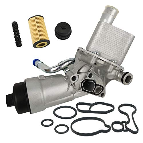Engine Oil Cooler Filter Housing Assembly Adapter Kit with Gaskets