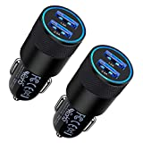 Fast Car Charger, 2Pack 3.4A Fast Charging Car Adapter Dual Port Cigarette Lighter USB Charger for iPhone 12 11 Pro Max SE XR XS X 8 7 6 6S Plus, Samsung Galaxy S21 S20 S10 S9 S8 A21 A10E A20 A51 A71
