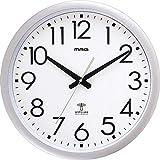 ノア精密 マグ 大型電波掛時計 ウェーブ420 W-462 SM 銀メタリック