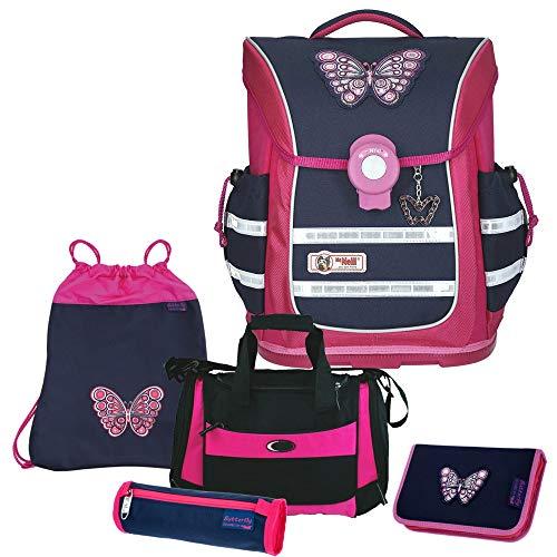 Butterfly - Schmetterling- McNeill Ergo Light Pure Schulranzen-Set 5tlg. mit Sporttasche